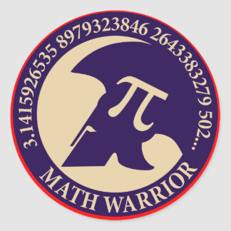 Pi Warrior Classic Round Sticker
