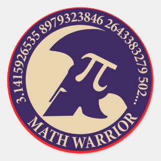 Pi Warrior Round Sticker