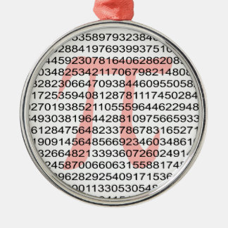 Pi with its number christmas ornament