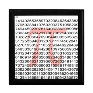 Pi with its number large square gift box