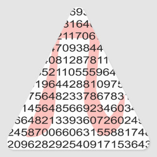 Pi with its number triangle sticker