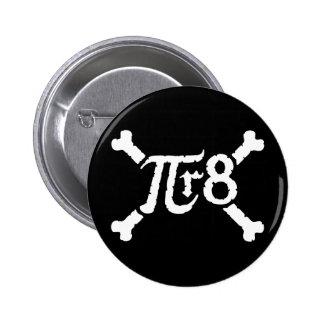 Pi x Radius to the 8th Power = Pirate 6 Cm Round Badge