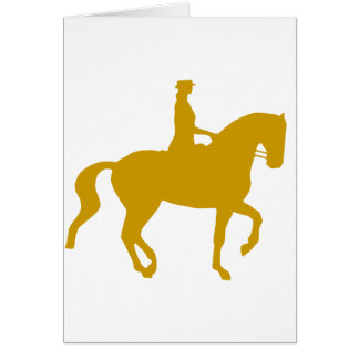 Piaffe Dressage Horse and Rider (gold) Card