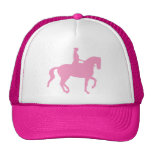 Piaffe Dressage Horse and Rider (pink) Mesh Hat