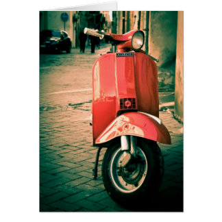 Piaggio Scooter in Italy Greeting Card