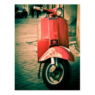 Piaggio Scooter in Italy Postcard
