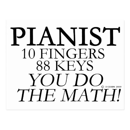 Pianist 10 Fingers 88 Keys Postcards