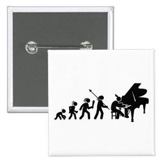 Pianist 15 Cm Square Badge