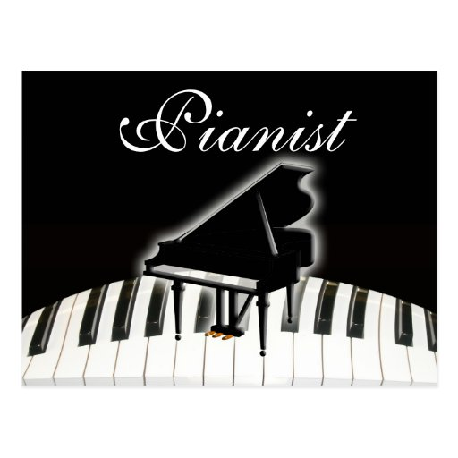 Pianist and Keyboard Postcards