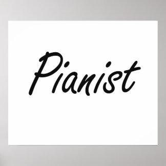 Pianist Artistic Job Design Poster