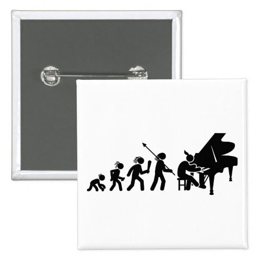 Pianist Pinback Buttons