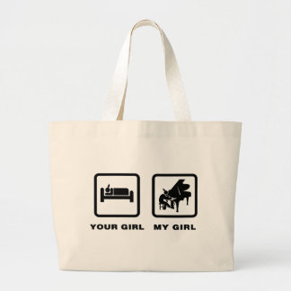 Pianist Tote Bags