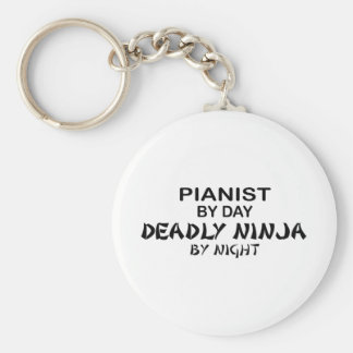 Pianist Deadly Ninja by Night Basic Round Button Key Ring