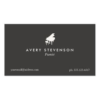 Pianist Elegant and Simple Black Piano Pack Of Standard Business Cards