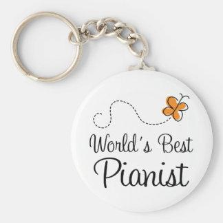 Pianist Music (Worlds Best) Piano Keychain Gift