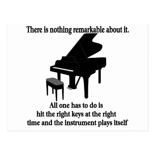 Pianist Musician T-shirts and Gifts Post Card