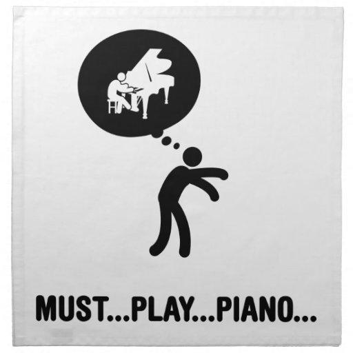 Pianist Printed Napkins