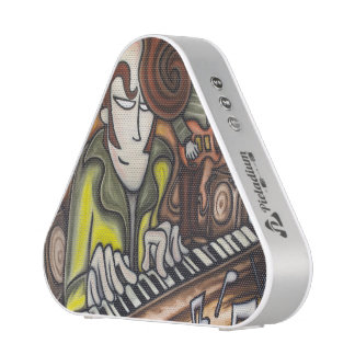 Pianist (oil in canvas) bluetooth speaker