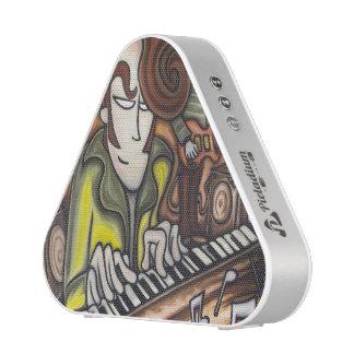 Pianist (oil in canvas) bluetooth speaker