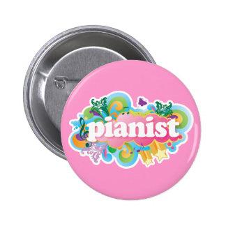 Pianist Retro Piano Gift 6 Cm Round Badge