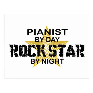 Pianist Rock Star by Night Postcard