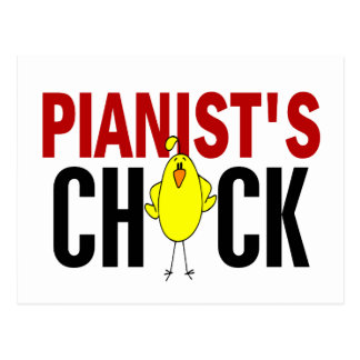PIANIST'S CHICK POSTCARD