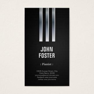 Pianist - Steel Metal Look Business Card