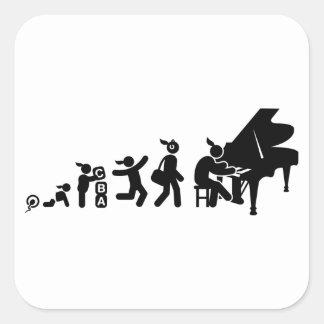 Pianist Square Sticker