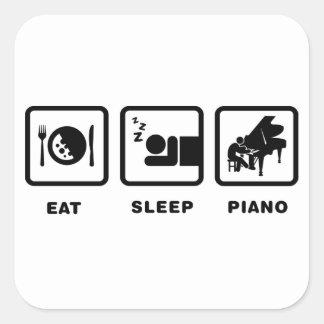 Pianist Square Stickers