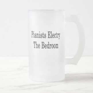 Pianists Electry The Bedroom Frosted Glass Mug