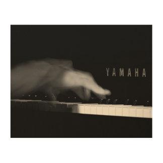 Pianist's Hand on Yamaha Piano Wood Wall Art