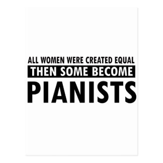Pianists music designs post card