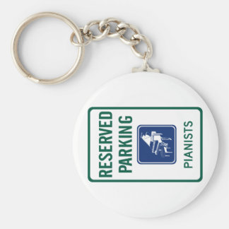 Pianists Parking Keychain