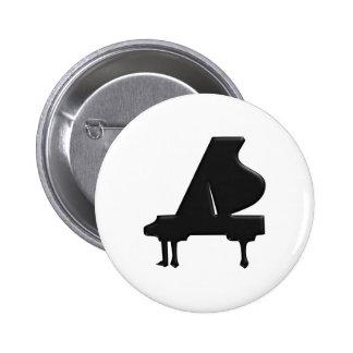 Piano 6 Cm Round Badge