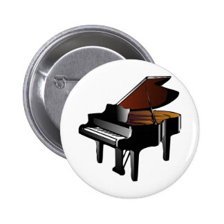 Piano 6 Cm Round Badge