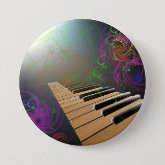 piano 7.5 cm round badge