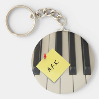 Piano A.F.K. (Away From Keyboard) Key Chain