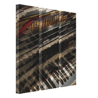 Piano Abstract Art Canvas Triptych Canvas Print