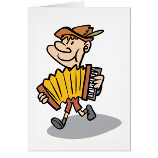 Piano Accordion Player notecard, musician card