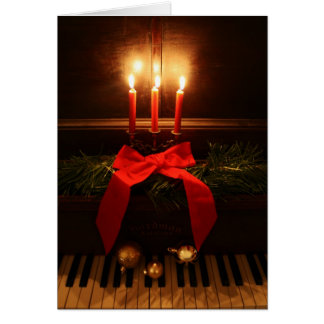 Piano and Candles Card