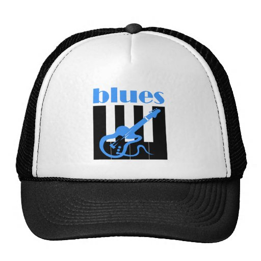 Piano and guitar blues trucker hat