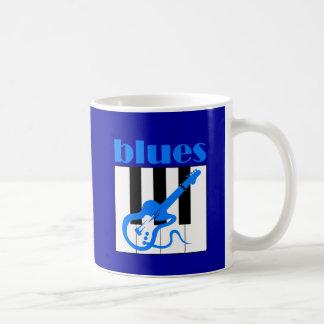 Piano and guitar blues mugs