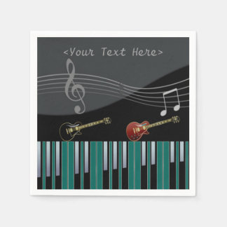 Piano and Guitar Music Notes Napkins Paper Napkins