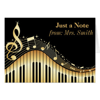 Piano and Music Personalised Greeting Cards
