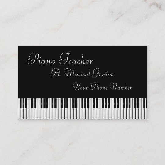 Piano and or music teacher business card zazzle piano and or music teacher business card colourmoves