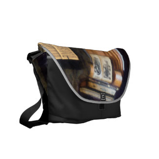 Piano and Sheet Music on Stand Messenger Bags
