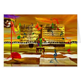 Piano art greeting card
