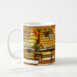 Piano art mugs