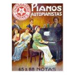 Piano Autopainistas Vintage Piano Ad Post Card