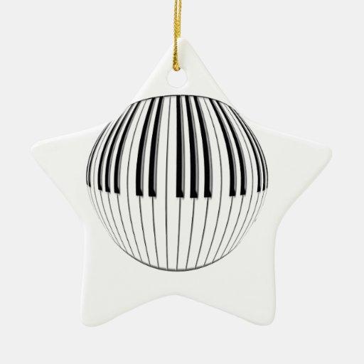 Piano Ball Ornament